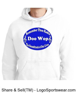 White Hooded Sweat Design Zoom